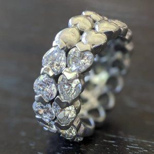 Jose Hess Silver Bella Luce Stack Heart Ring